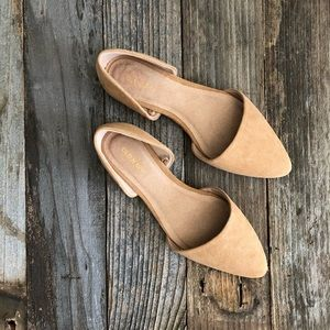 Old Navy Faux Suede D'Orsay Flats